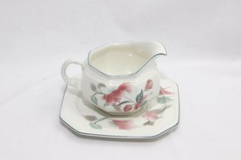 Mikasa Silk Flowers Gravy Boat with Underplate - $29.39