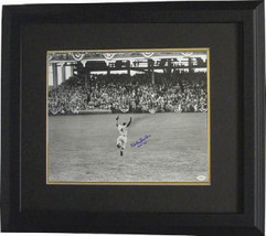 Duke Snider signed Brooklyn Dodgers B&W Vintage Jumping 16x20 Photo Cust... - $158.95