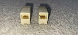 Cat5e RJ45 Inline Ethernet Network Patch Cable Coupler, 8P8C Straight - LOT of 2 - $4.99