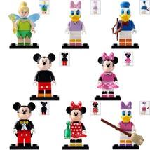 8pcs/set Disney Tinker Bell Mickey Mouse & Friends Minnie Donal Lego Minifigures - $13.99