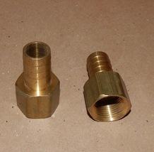 "3/4"" Hose Barb x 3/4"" Female NPT Brass Pipe Fitting Rigid Adapter 2 each... - $9.49"