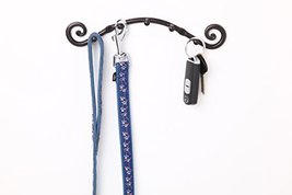 5 Hook Key Holder | Wall Mounted Hanger | Wrought Iron Key Rack Handmade by RTZE image 6