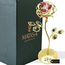 """Everlasting 7.5"""" 24K Gold Plated Long Stem Rose Flower with Premium Colo... - $38.95"""