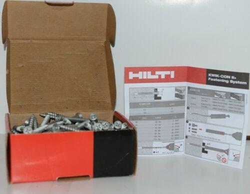 HILTI KWIK CON II PLUS 433053 Phillips Flat Head Screws 1/4 x 3 3/4 Box of 100