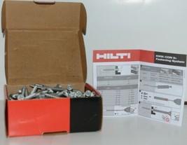 HILTI KWIK CON II PLUS 433053 Phillips Flat Head Screws 1/4 x 3 3/4 Box of 100 image 1