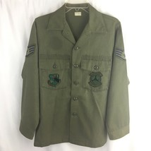 Vintage US Air Force Button Front Shirt 91st Transportation Squadron Strategic - $19.75