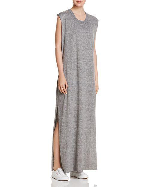 NEW 148$ Current Elliott T Shirt Dress The Delphi Maxi Tee Gray *0-3