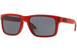 Oakley Sunglasses B1B Collection Holbrook Matte Red w/Grey  OO9102-83 - $186.96