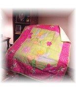 Disney's Tinkerbell Cotton Fabric Handmade Quilt For A Toddler/Teen  - $70.00