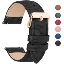 6 Colors for Quick Release Leather Watch Band, Fullmosa Cross Genuine Le... - $24.54