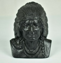 Vintage Cast Iron Indian Chief Head Coin Still Bank  - $31.85