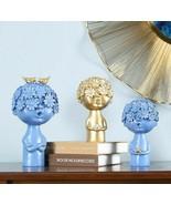 Resin Ornament Golden Abstract Figure Statue Desk Decor Half-length Port... - $51.33+