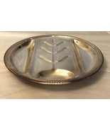 "Silver Round Meat Serving Tray, EPC 17G, Pat. 96.044, 14-1/2"" - $19.80"