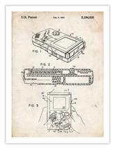 NINTENDO GAME BOY POSTER 1993 Patent Art Print Handheld Video Game Gameb... - $24.95