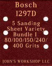 Bosch 1297D - 80/100/150/240/400 Grits - 5 Sandpaper Variety Bundle I - $7.53