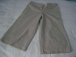 "Loft Ann Taylor ""Ann"" Ladies Lt.Tan Stretch Cropped PANTS-2-EXCELLENT-WORN Once - $5.99"
