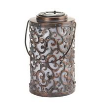 Outdoor Hanging Lanterns, Garden Solar Metal Decorative Floor Lantern Ou... - $29.82