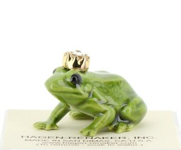 Birthstone Frog Prince April Simulated Diamond Miniatures by Hagen-Renaker image 1
