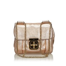 Pre-Loved Chloe Pink Others Leather Metallic Elsie Crossbody Bag Italy - $452.54