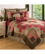 C&F Home Huckleberry Sage Lodge Patchwork Reversible Cotton Quilt Set 3 ... - $98.99+