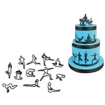Yoga Exercise Poses Cookie Biscuit Fondant Cutter Cake Decorating Sugarc... - $7.80+