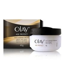 Olay Age Protect Anti Ageing Cream, 40gm Reduces Wrinkle Removes Dark Spot - $12.49