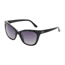 Womens Designer Sunglasses Guess - GU7438 Black Cat Eye UV Protected Pol... - $51.25