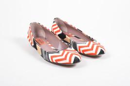 Missoni Black Red White Zig Zag Knit Ballet Flats SZ 36 - $45.00