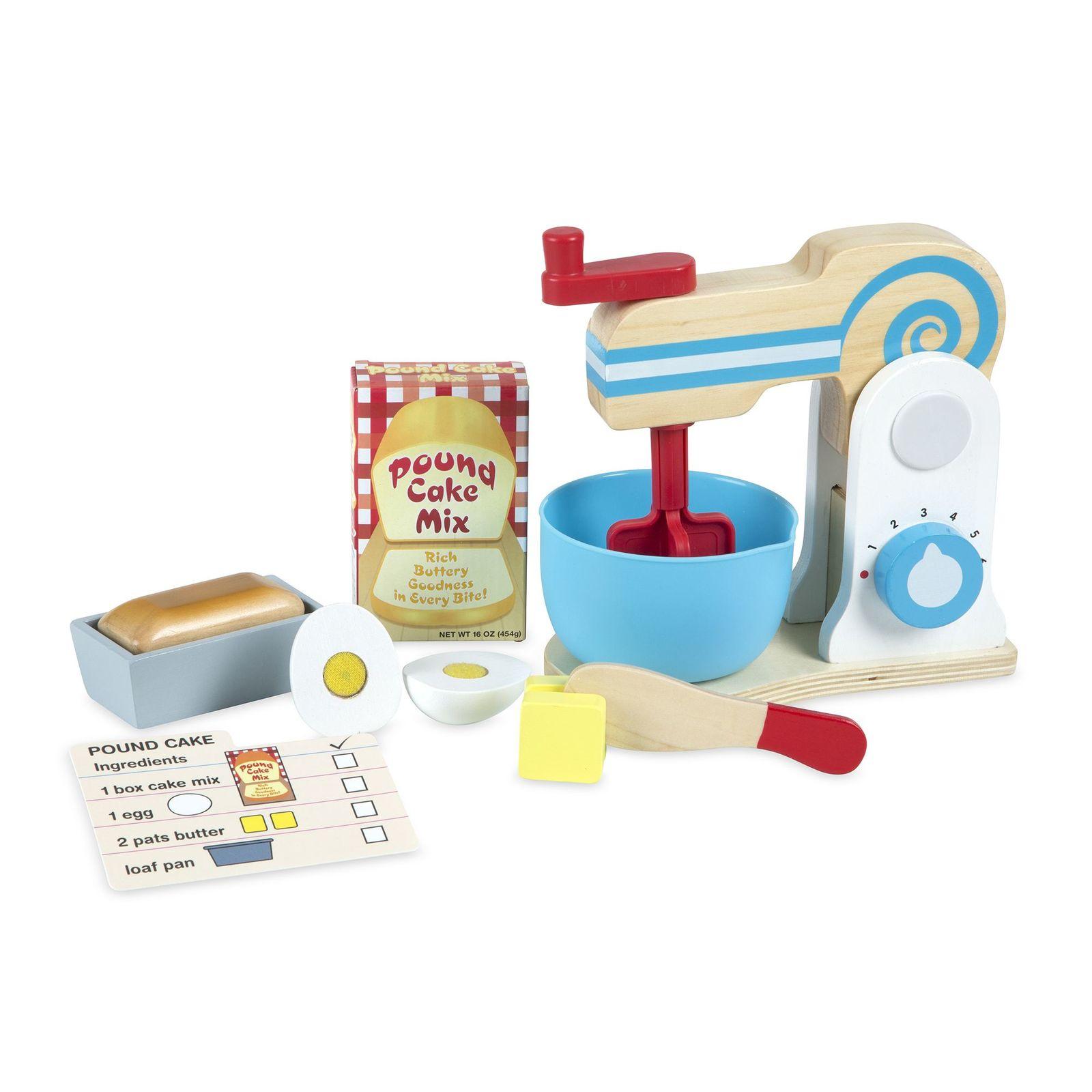 Melissa & Doug Wooden Make-a-Cake Mixer Set - $33.16