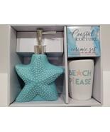 Coastal Beach Nautical Starfish Toothbrush Lotion Holder Bathroom Access... - $24.74