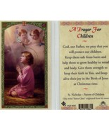 A Prayer for Children Card Laminated Catholic - EB447 - Angels Protect Them - $2.23
