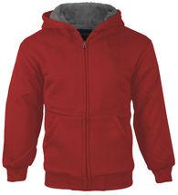 Boys Kids Toddler Athletic Soft Sherpa Lined Fleece Zip Up Hoodie Sweater Jacket image 10