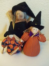 Set of 3 Plush Stuffed Stand Up Holiday Halloween Stand Up Witches Decor... - £5.75 GBP