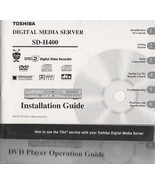 TOSHIBA  SD-H400 OPERATION & INSTALLATION & How to Guide - $15.99