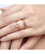 [Jewelry] Best Friend Small Heart and Star Open Ring for Friendship Gift - $7.49