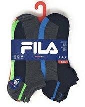 Fila Men's No-Show Socks - Shock Dry - 6 Pk Assorted Colors-Men's Size 10-13-Bla - $14.95