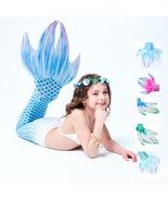 5pcs Girls Kids Mermaid Tail Monofin Swimmable Bikini Set Tail Swimming ... - $54.99