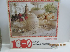 """Ceaco Jigsaw Puzzles 1,000 Pc. """"White You Are"""" Teapot, Buffet - $8.91"""