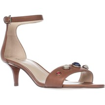 Nine West Lilac Ankle Strap Dress Sandals, Dark Natural, 10.5 US - $29.75