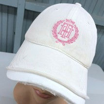 Tommy Hilfiger Destroyed Pink Logo Strapback Beat Up Baseball Cap Hat - $13.75