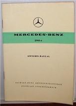 1961 1962 Mercedes 180 c Owners Manual  Service W120 ponton new original w120 - $89.09