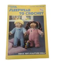 "Leisure Arts Sleepwear to Crochet Leaflet Booklet #451 for 16"" Sculpture... - $10.70"