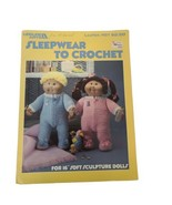 "Leisure Arts Sleepwear to Crochet Leaflet Booklet #451 for 16"" Sculpture... - $7.86"