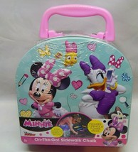 Disney Minnie Mouse On The Go Sidewalk Chalk & Stencil Kit Tin Carry Case  - $23.00
