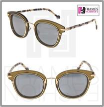 Christian Dior Origins 2 Sand Havana Green Silver Mirrored Unisex Sunglasses - $272.25
