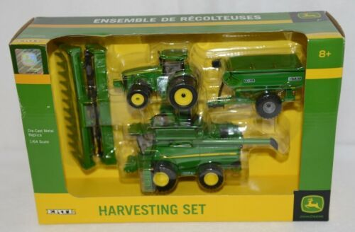 John Deere TBE45443 Die Cast Metal Replica Harvesting Set