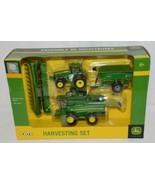 John Deere TBE45443 Die Cast Metal Replica Harvesting Set - $46.99