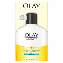 OLAY COMPLETE SENSITIVE DAILY MOISTURIZER WITH SPF 15 6 OZ - $8.50+