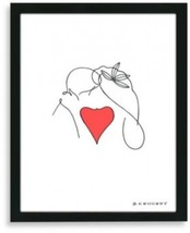 Kiss Framed Line Drawing - $72.22