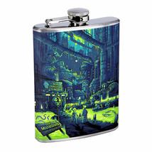 Mutated Lake Waste Em1 Flask 8oz Stainless Steel Hip Drinking Whiskey - $13.81